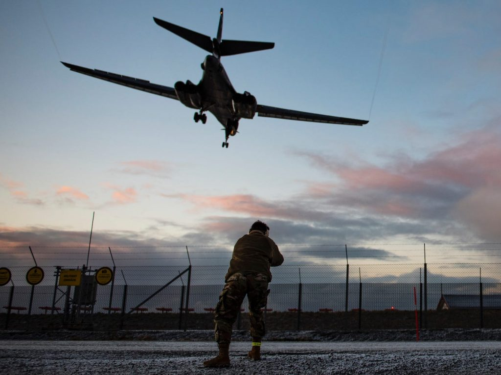 US Flying force bombers are on an 'historic' objective to Norway to let allies understand they'll be 'on target, very first time'